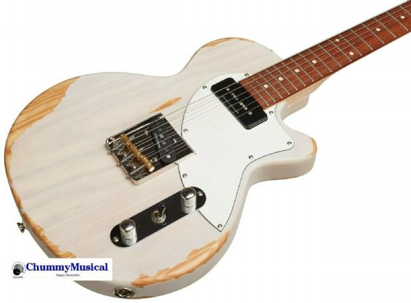 Cort Sunset TC Electric Guitar - Sunset Series - Worn White Blond - SUNSETTC-WWB